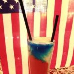 american flag inspired cocktail 17 south booze and bites