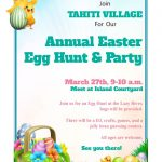 tahiti village easter egg hunt flyer