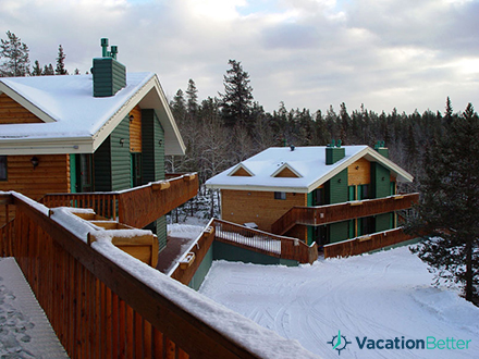 Vacationers still prefer the convenience of timeshare resorts like Tahiti Village to trendy peer-to-peer rentals, such as this snowy mountain property.