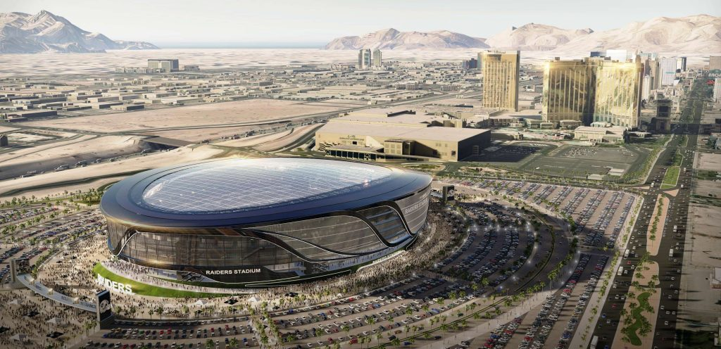 It's now more than just a proposal. It's a reality. The Raiders are leaving Oakland for Las Vegas and will play in a 65,000-seat domed stadium just north of Tahiti Village!