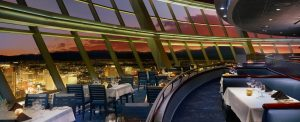 View from dining area at Top of the World, located at the Stratosphere.