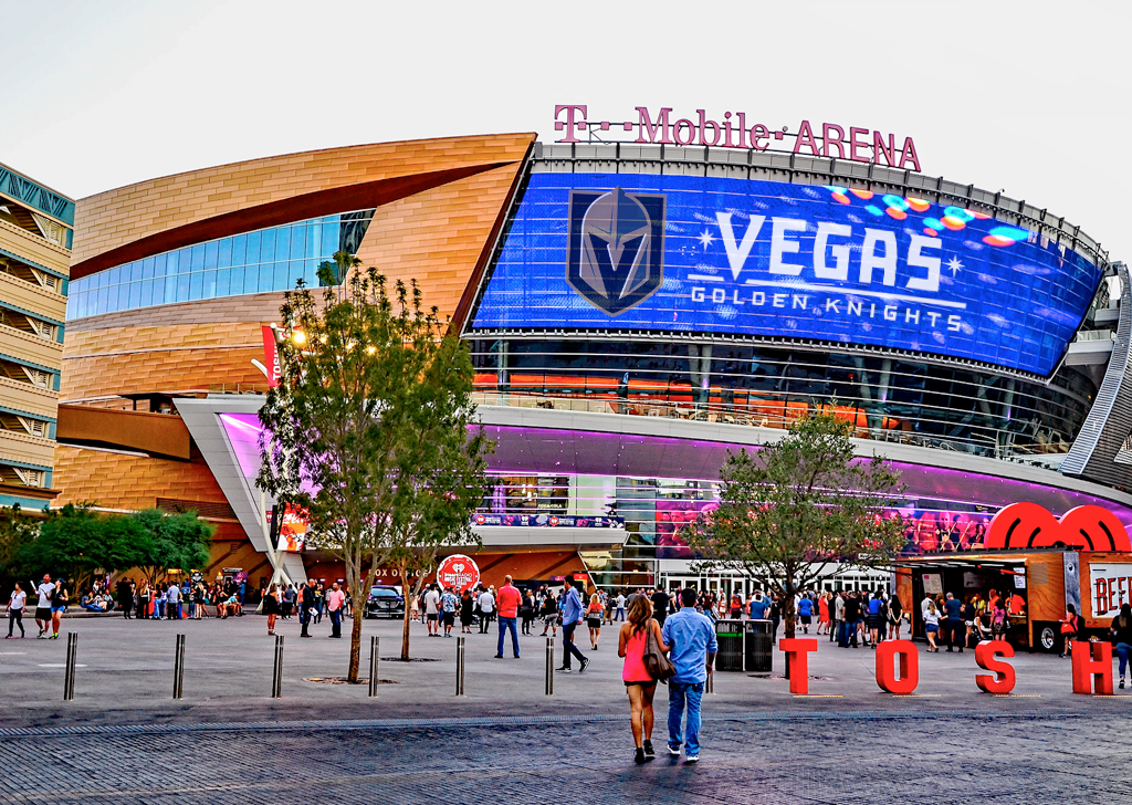 Las Vegas T-Mobile Arena, home of the Golden Knights.