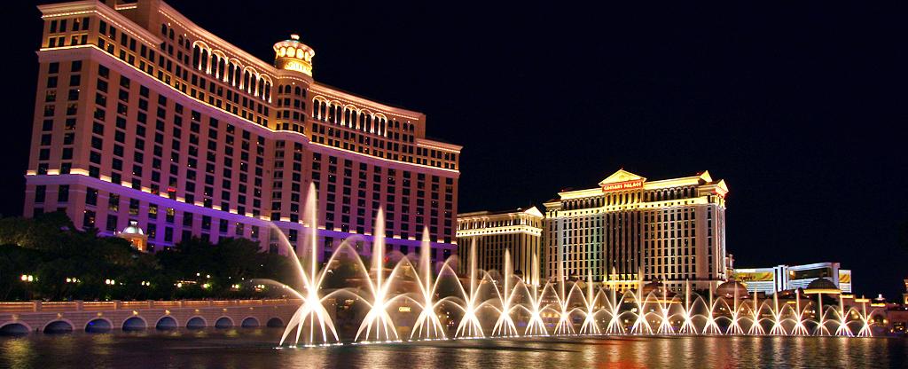 The Bellagio Fountains in Las Vegas.