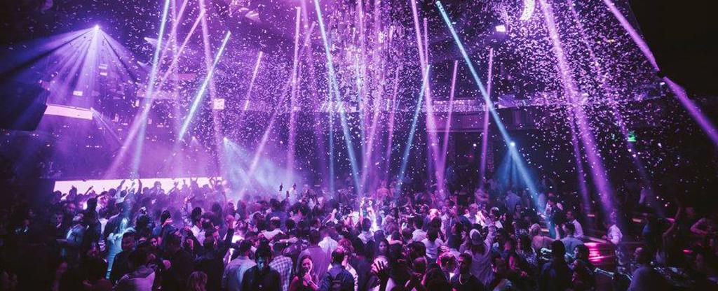 Crowd and Lights at OMNIA Nightclub in Las Vegas.