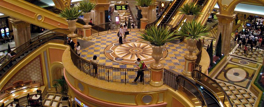 Shopping center at the Venetian in Las Vegas.