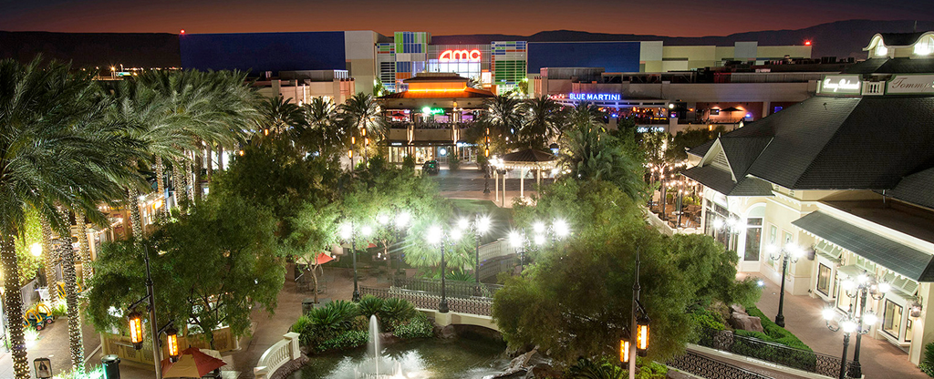 Overview of Town Square shopping center in Las Vegas.