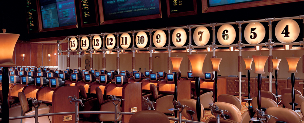 Sports book located at the Bellagio.