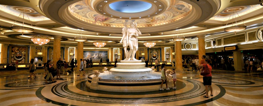 Lobby at Caesars Palace in Las Vegas.