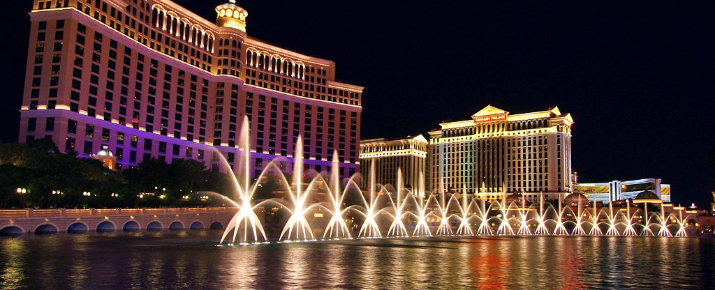 Fountain Show at the Bellagio in Las Vegas.