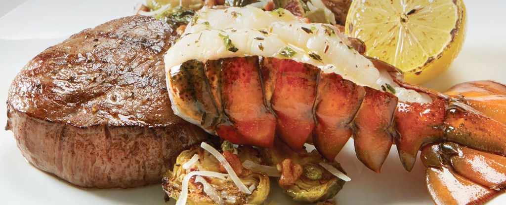 Steak and lobster dish available at Brio Tuscan Grille.