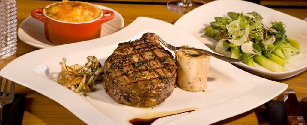 Steak dinner at VooDoo at the Rio in Las Vegas.