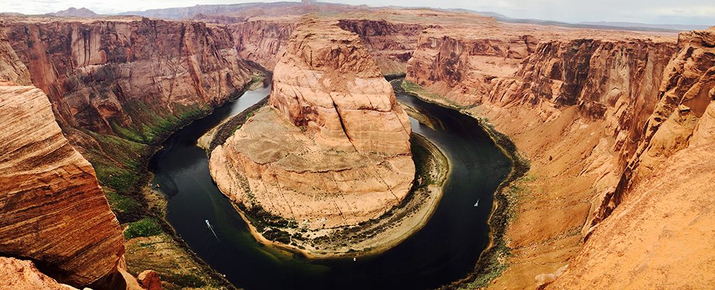 View from above of the Grand Canyon.