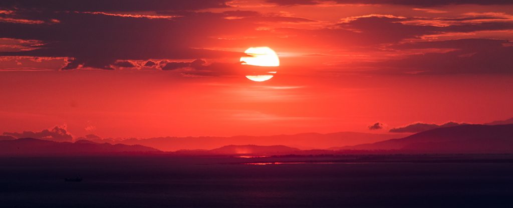 Beautiful view of the sunset.