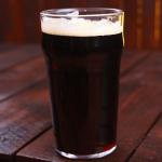 Draft glass of Guinness.