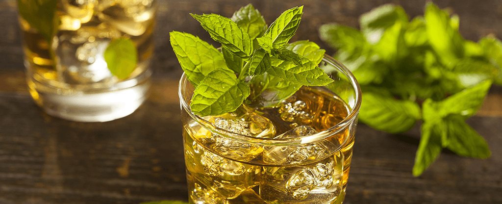 A homemade mint julep drink to celebrate the Kentucky Derby.