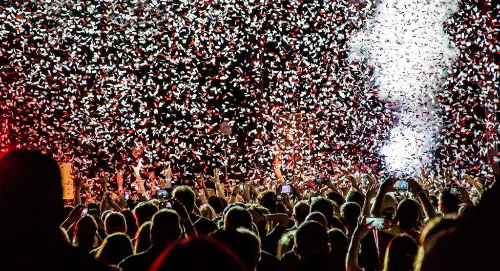 People enjoying the club in Las Vegas