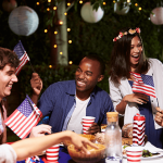 Group of friends celebrating the 4th of July.