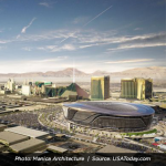 Digital Rendering of Las Vegas Raiders Stadium Exterior