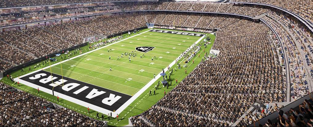 Digital Rendering of Las Vegas Raiders Stadium Interior