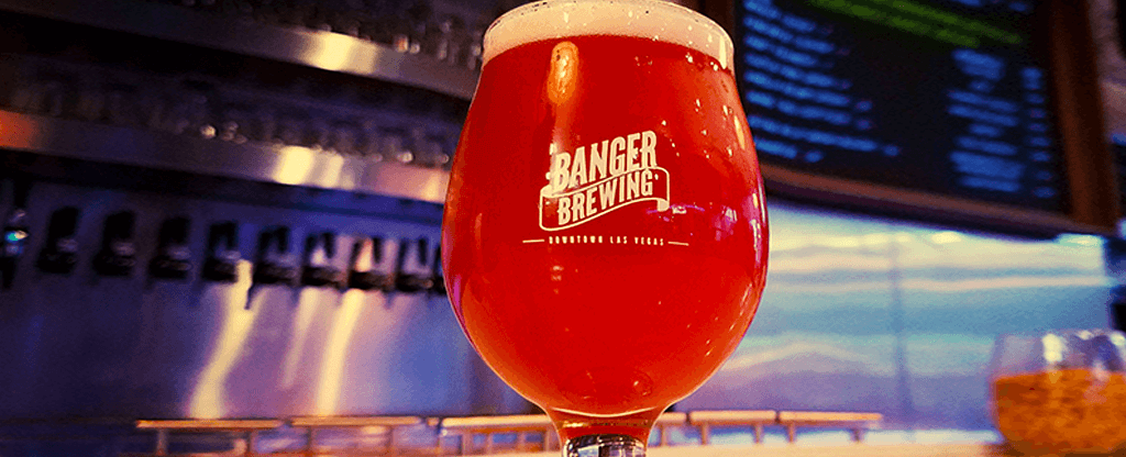A glass of fruit-infused beer at Banger Brewing.