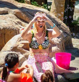Mermaid At Tahiti Village Pool Las Vegas