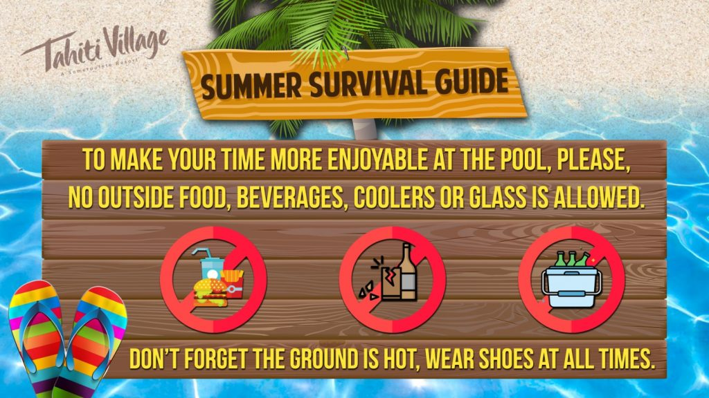 Tahiti Village Las Vegas Summer Survival Guide wear flip flops