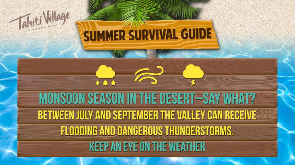 Tahiti Village Las Vegas Summer Survival Guide thunderstorms