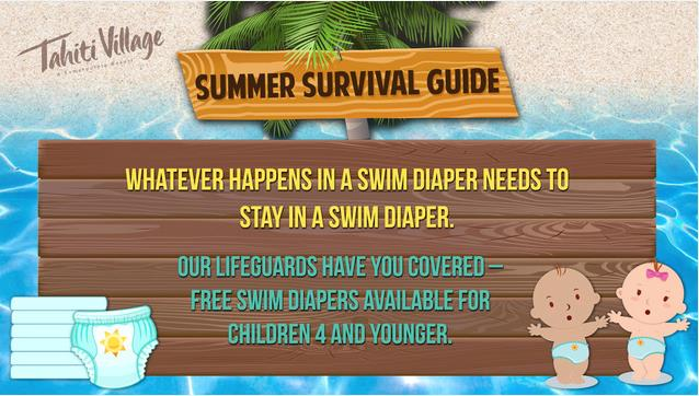 Tahiti Village Las Vegas Summer Survival Guide swim diapers