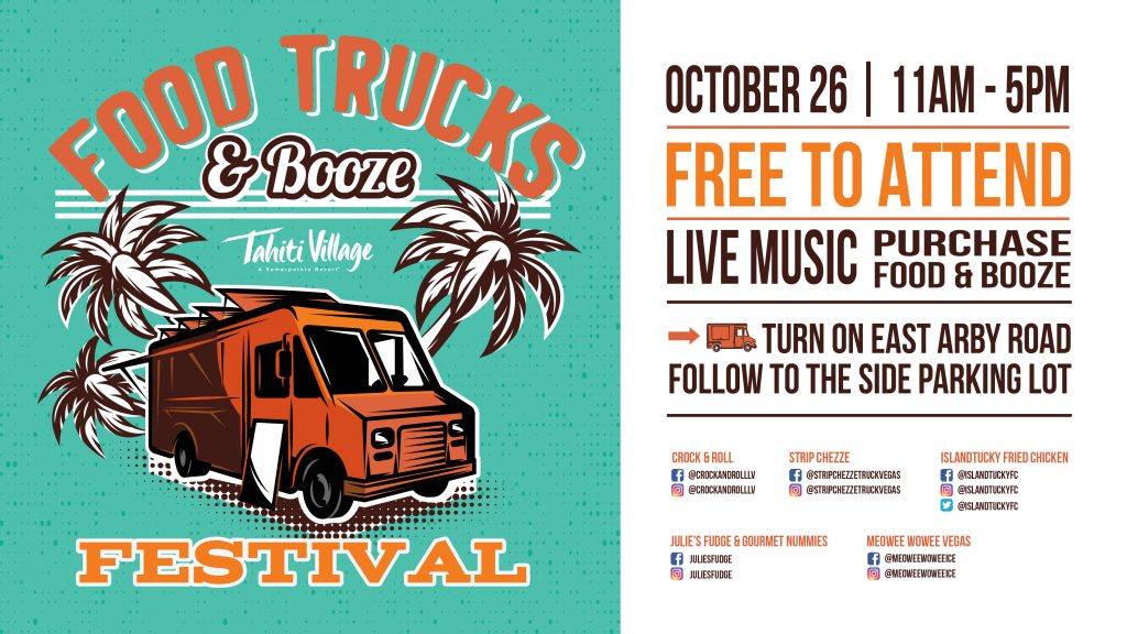 Food Truck & Booze Festival Las Vegas Tahiti Village Resort & Spa