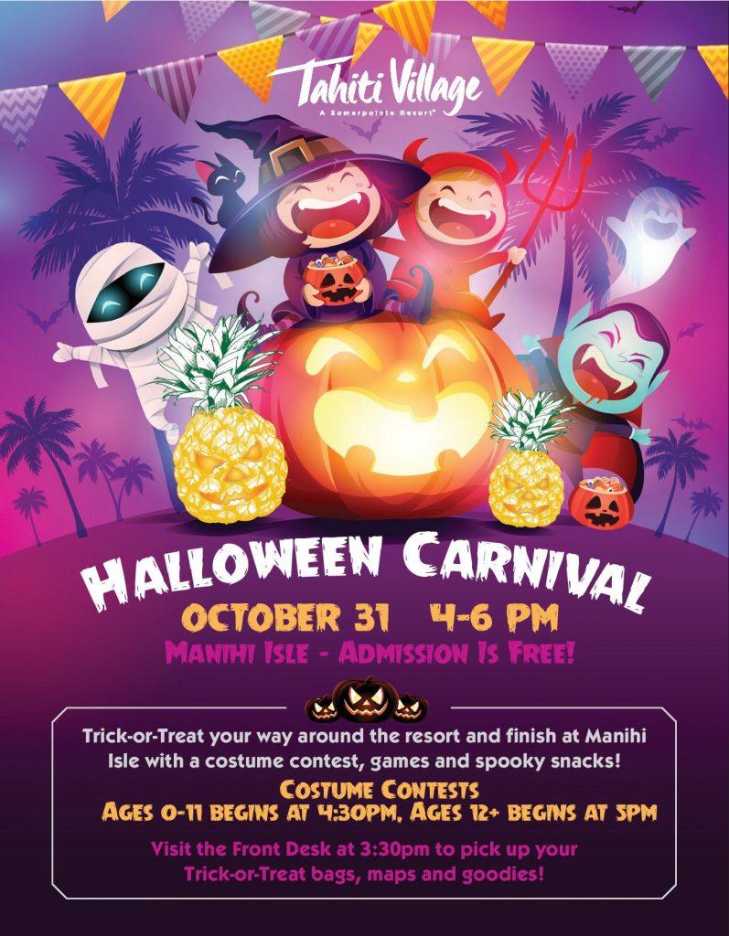 Halloween events Las Vegas Tahiti Village Resort