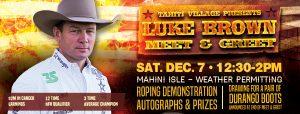 Wrangler National Finals Rodeo star Luke Brown returns to Tahiti Village Resort & Spa in Las Vegas