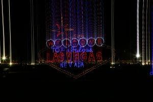 Las Vegas Speedway Glittering Lights